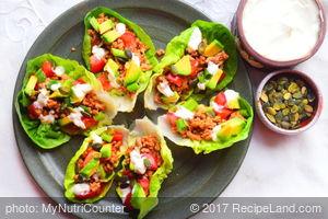 Turkey Lettuce Boats