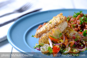 Pan-Fried Snapper Fillet with Fresh Grape Salsa