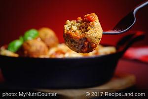 "Spaghetti Marinara with Chickpea ""Meatballs"""