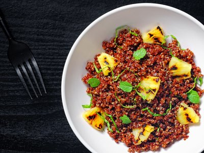 Grilled Pineapple and Red Curry Quinoa