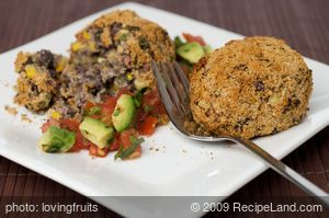 Black Bean Croquettes with Fresh Tasty Salsa
