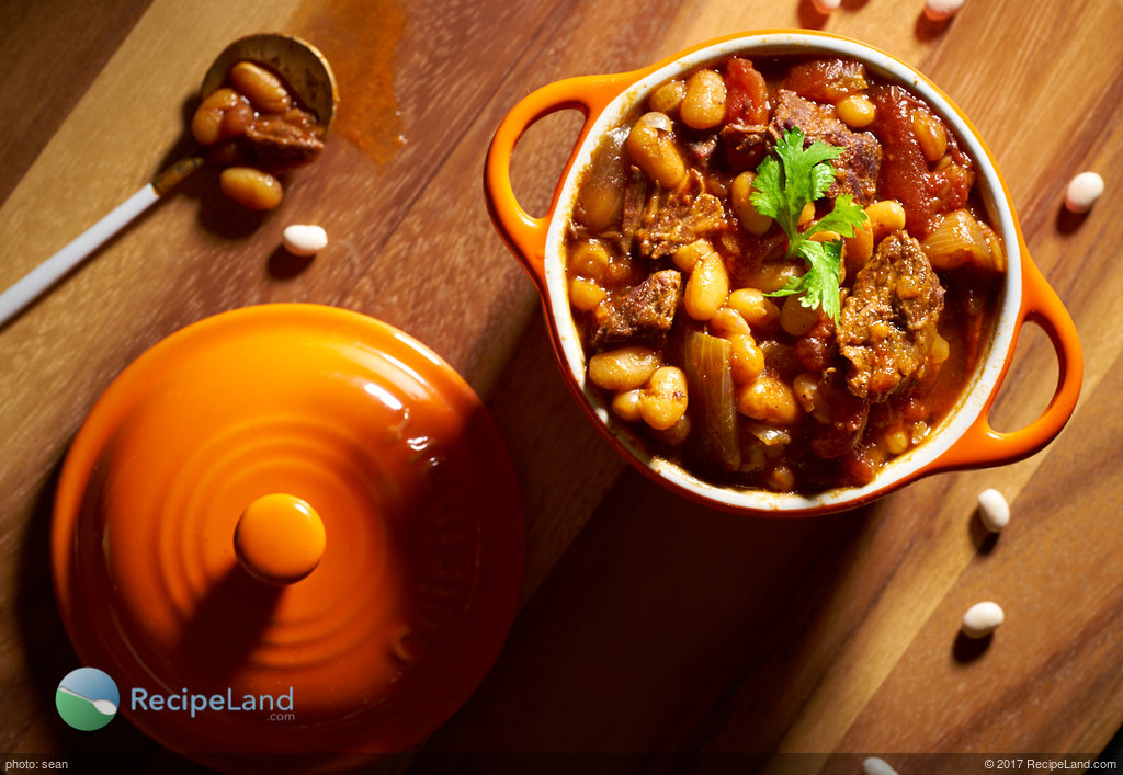 Beef Chili with Navy Beans