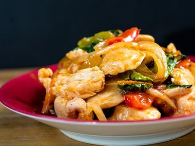 Thai Tamarind Chicken Stir Fry