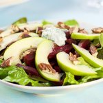 Apple Beet Salad with Creamy Diil Dressing