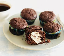 Double Chocolate Ricotta Muffins (Healthier Version)