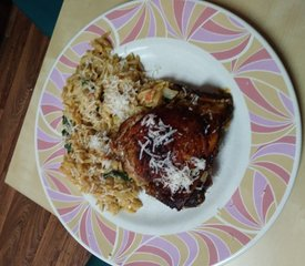 Paprika Chicken Thighs with Orzo Noodles