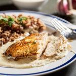 Chicken Breasts with Roasted Garlic-Chevre Sauce