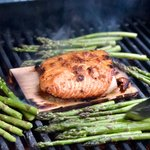 Ginger Cedar Planked Salmon with Maple Glaze