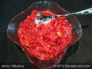 Spiked Cranberry Relish