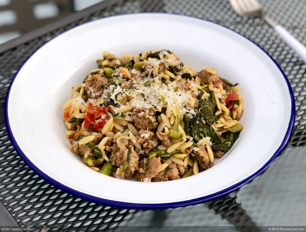 Pasta with Hot Sausage and Rapini