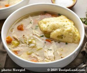 Leftover Chicken and Dumpling Casserole
