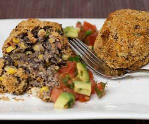 Black Bean Croquettes with Fresh Tasty Salsa
