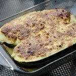 Cheese and Sausage Stuffed Zucchini