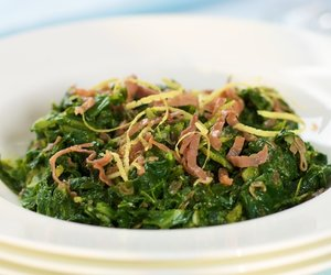 Southern Living Quick Collards with Prosciutto