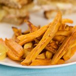 Sweet Potato Fries with Curried Mayonnaise Dip