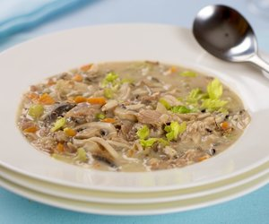 Creamy Leftover Turkey, Veggies and Wild Rice Soup