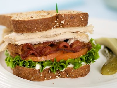 Leftover Turkey Club Sandwich