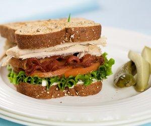 Leftover Turkey Club Sandwich