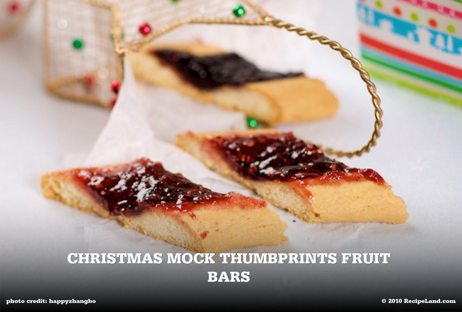 Christmas Mock Thumbprints Fruit Bars