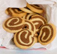 Christmas Chocolate Pinwheel Butter Cookies