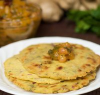 Makkai ki roti (Griddle-Cooked Corn Flatbread)