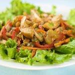 Presented salad.