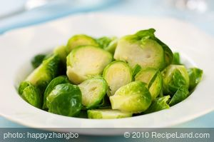 Cheesy Brussels Sprouts with Sherry Asiago Sauce