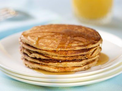 Buttermilk Whole Wheat Pancakes with Orange Zest