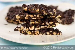 Chocolate Hazelnut and Cherry Bark