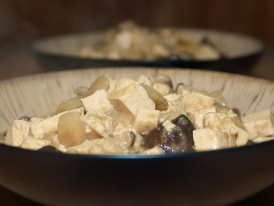 Chinese Braised Mushrooms and Tofu