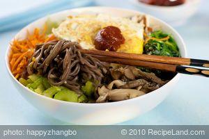Korean Soba Noodles with Vegetables