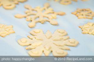 Christmas Snow Flake Cookies