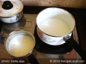 Homemade Sweet  Milk Pudding