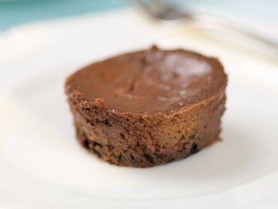 Crustless Chocolate Mini Cheesecakes
