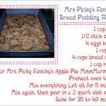 Mrs. Picky Fanicky's Bread pudding