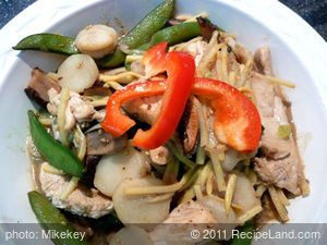 Sesame Chicken Stir-Fry with Vegetables