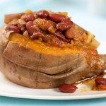 Chili Over Sweet Potatoes