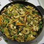 Psuedo-Vegetarian Pad Thai with Shrimp
