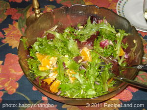 Mandrin Orange and Green Salad