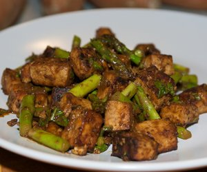 Orange and Miso Roasted Tofu and Asparagus