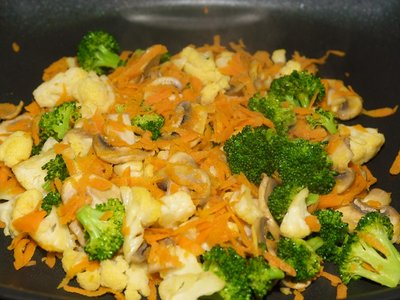 Golden Tofu and Fresh Veggies with Maple Barbecue Sauce