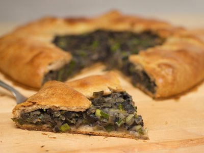 Mushroom and Leek Gallette
