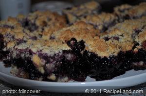Blackberries Crumb Bars