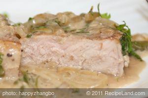 Crockpot Pork Chops with Mushroom Sauce