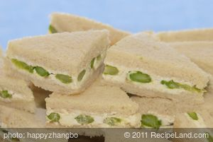 Asparagus Cheese Party Sandwiches