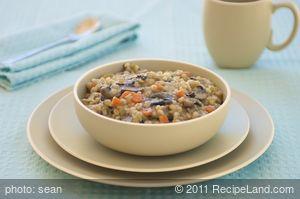 Barley Mushroom Soup (Vegan)
