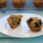 Buttermilk Bran and Blueberry Muffins