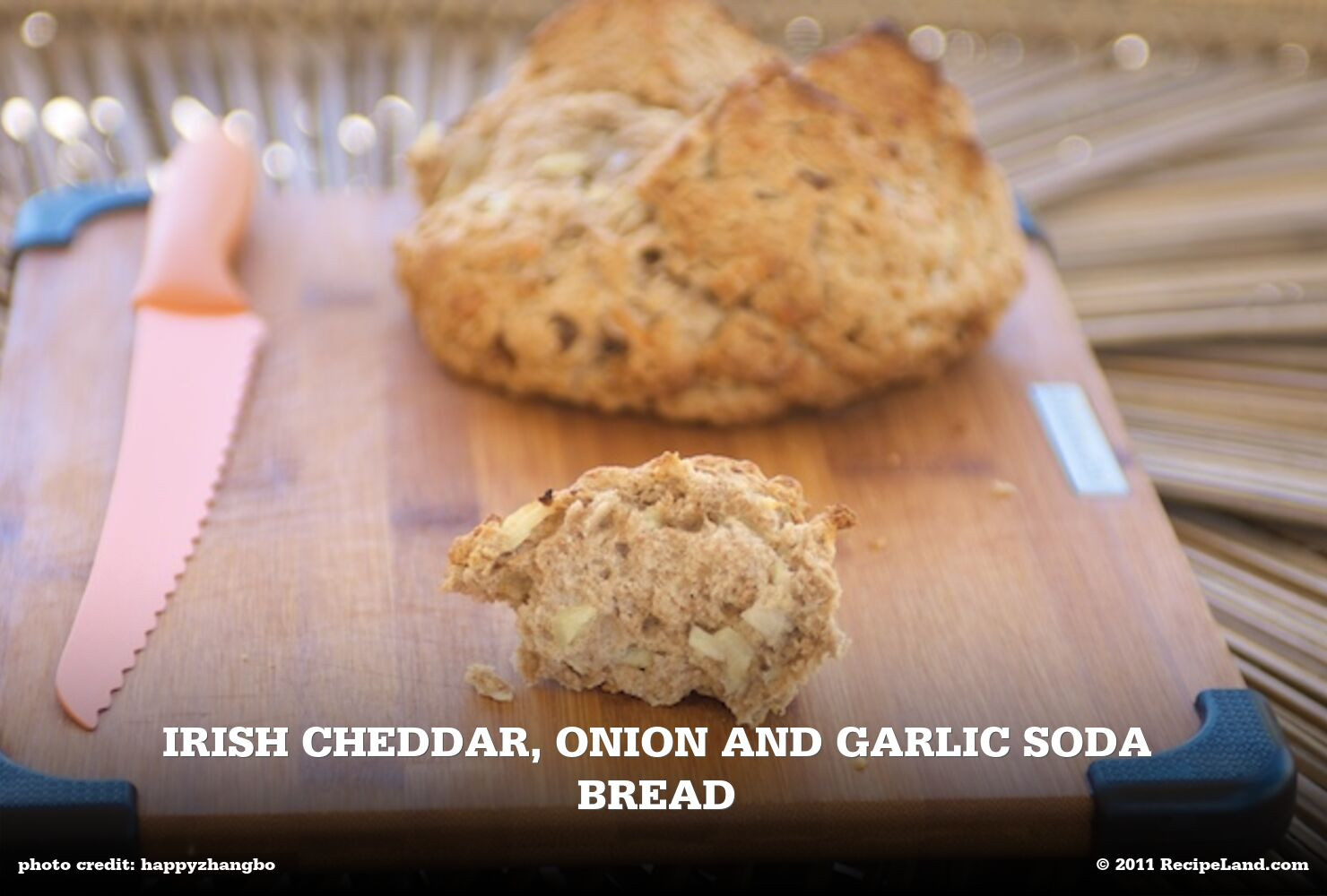 Irish Cheddar, Onion and Garlic Soda Bread