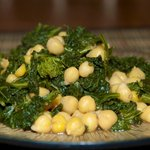 Spiced Kale and Chickpeas