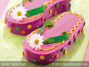 Betty Crocker Flip Flops Cake